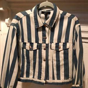 Blue & White Lightweight Denim Jacket